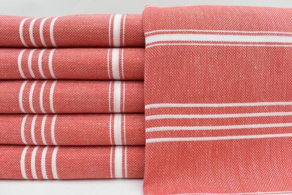 Red Turkish Bath Towel Fast Dry Towel Beach Towel 40x70 Towel