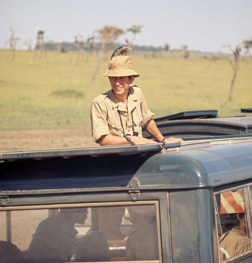 Prince Charles on safari in Kenya, is joined by Princess Anne 1971