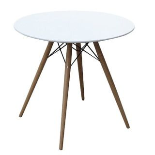 Delightful Shop For Wood And Fiberglass 48 Inch White Mid Century Style Dining Table. Furniture  OutletOnline ...