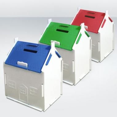 Promotional House Money Box - House Shaped Flat Packed Mailer :: Promotional Piggy Banks :: Promo-Brand Promotional Merchandise :: Promotional Branded Merchandise Promotional Products l Promotional Items l Corporate Branding l Promotional Branded Merchandise Promotional Branded Products London