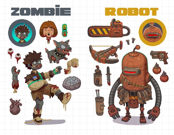 Zombies vs Robots by Nerd-Scribbles on DeviantArt