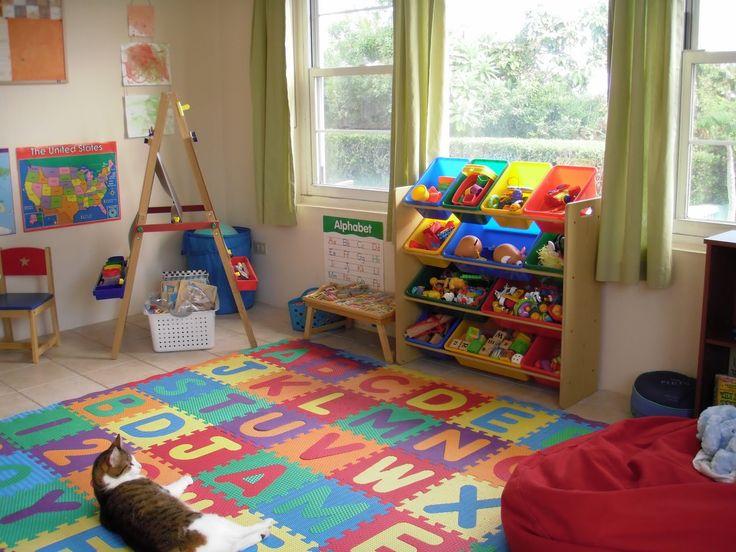 preschool homeschool room minus the cat - Designing A Home Preschool Room