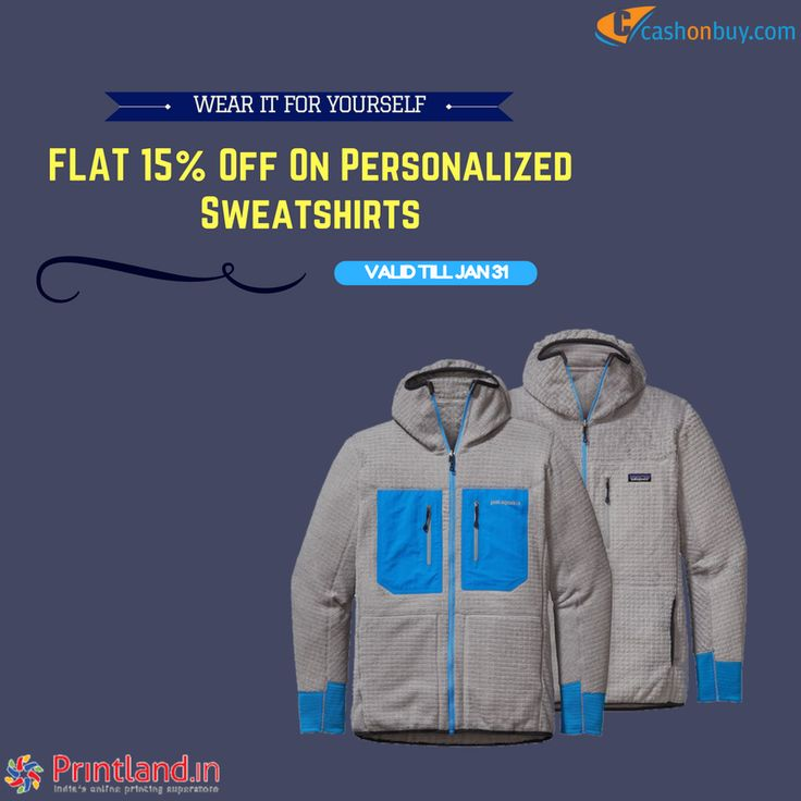 Get #Flat 15% off on #Personalized #Sweatshirts #cashonbuy #cashback #comparison #discount #price_comparison #shopping #lifestyle #likeforlike #cool #likeus