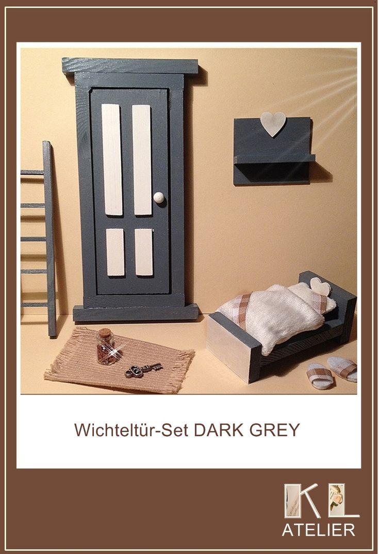 Wichteltür Set Mit Bettchen, Leiter, Wandboard, Teppich, Glitzerstaub,  Bettchen Mit Bettwäsche