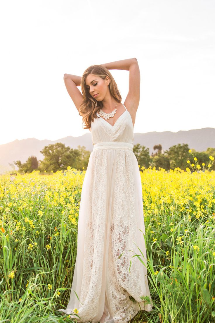 Cream Maxi Dresses, Lace Dresses for Women, Engagement Session Outfits, Bridal Shower Dresses