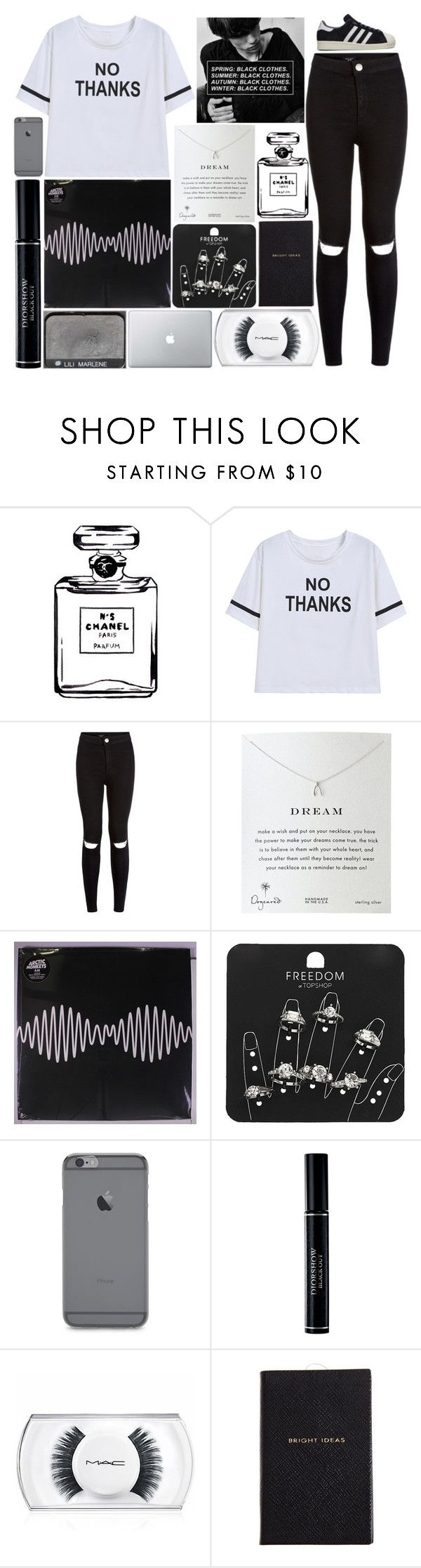 """100 Day Challenge: Day 43-Q&A video"" by piksist ❤ liked on Polyvore featuring Chanel, NARS Cosmetics, Dogeared, Topshop, Christian Dior, MAC Cosmetics, Smythson and adidas"
