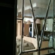Зеркальное панно с фацетом, зеркальная плитка с фацетом, зеркальное панно с пескоструйным орнаментом/рисунком