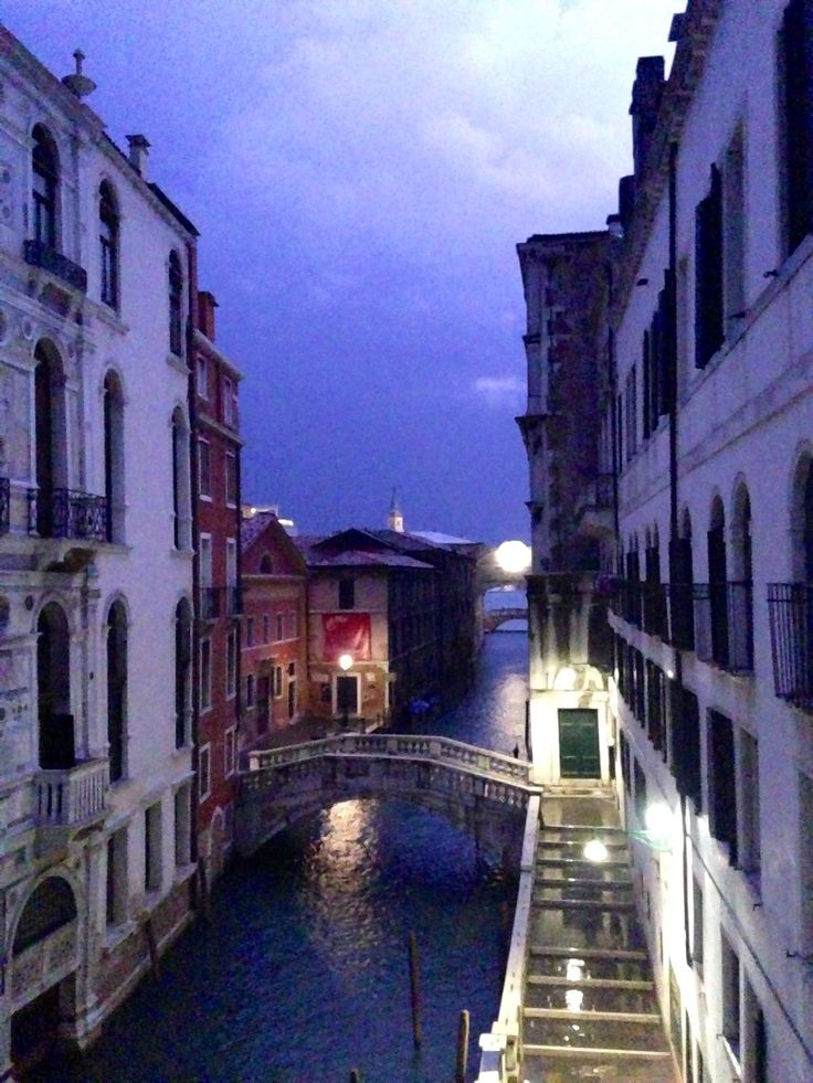 Midnight lightning on the Venetian canals