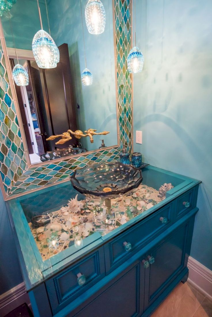 47 Impressive Bathroom Decorating Ideas With Diy Mermaid Decor