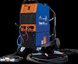 Hochleistungs-WIG-Schweißanlage mit wassergekühltem Brenner in Industriequalität.
