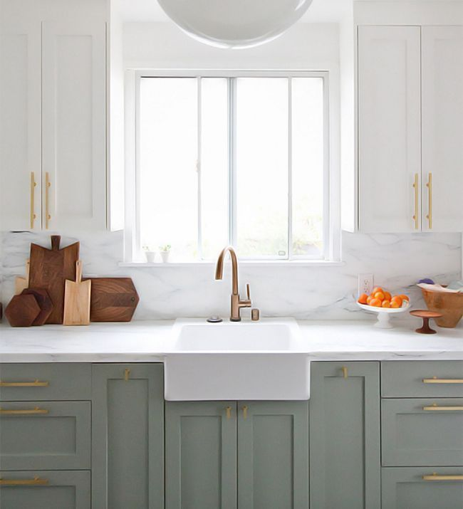trend we're loving: two-toned kitchens on domino.com