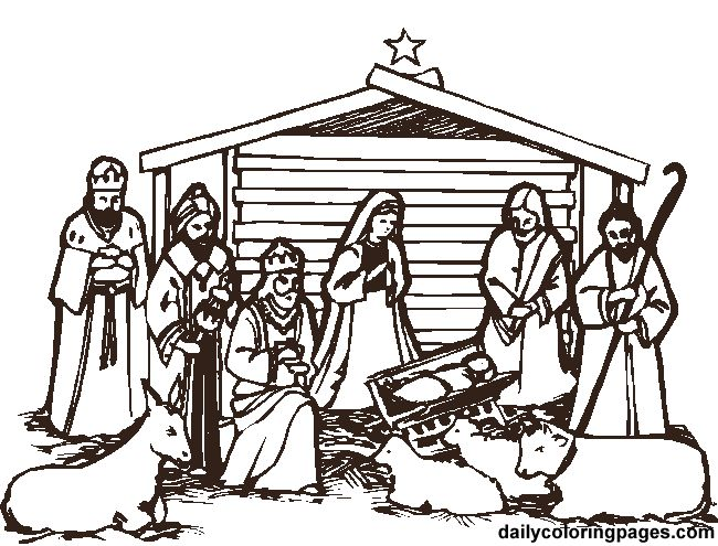 Nativity Coloring Pages 18 Pictures