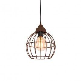 Hanglamp Birdy roestkleur 20CM. Industrielampen.nl €20