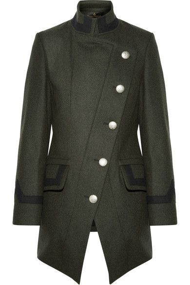 Vivienne Westwood Anglomania | State asymmetric wool-blend coat | NET-A-PORTER.COM