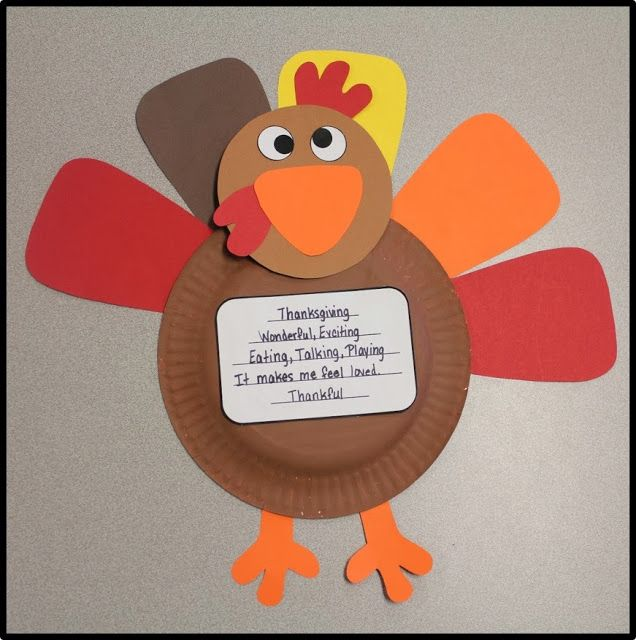 Turkey Craft With Paper Bowls For Kids