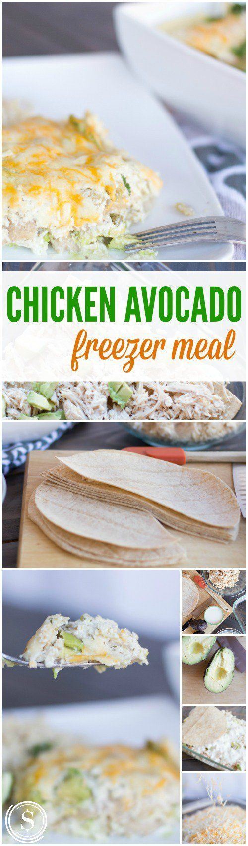 Chicken Avocado Freezer Meal! Homemade Dinner Idea for Busy Families! Find More Freezer Meals Here --> http://www.passionforsavings.com/freezer-meals/