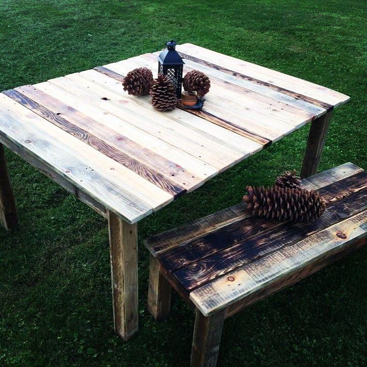 4u0027 X 5u0027 Table And Bench . Organicrecreationsart@gmail.com