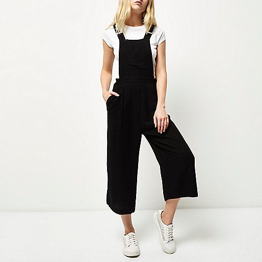 Black culotte jumpsuit - playsuits / jumpsuits - sale - women
