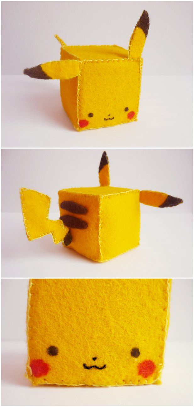 a blocky Pikachu is a cute one if you make it huge you can use it as some sort of potato sack
