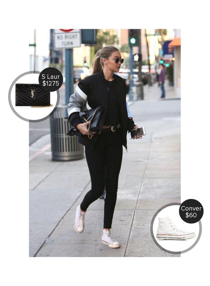 Gigi Hadid out with Taylor Swift #converse #saintlaurent  #gigihadid @dejamoda