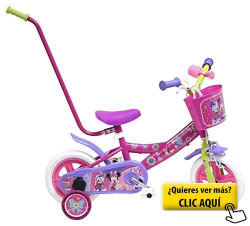 Bicicleta Niño Disney Minnie con barra de... #bicicleta