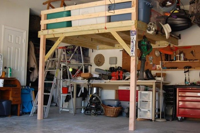 265 best images about garage workshop on pinterest workbenches toolbox and french cleat - Garage storage loft plans collection ...
