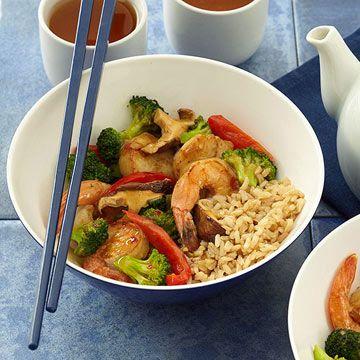 Shrimp and Scallop Vegetable Stir-Fry | Diabetic Living Online