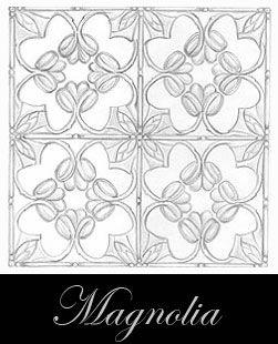 diseño del techo de metal prensado - Magnolia