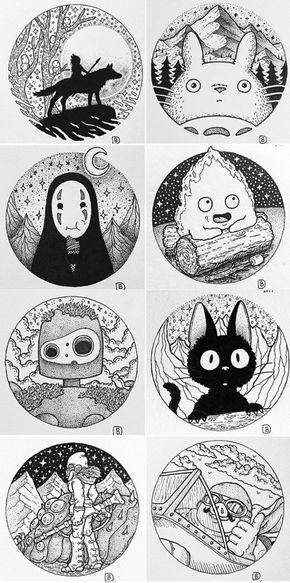 Studio Ghibli drawings by (@Dylan Brady)