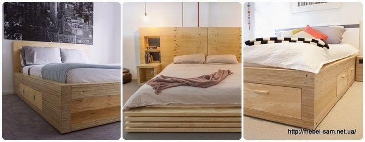 Кровати из фанеры