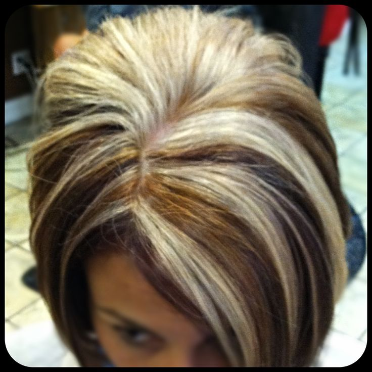 Lots Of Blonde Highlights With Caramel And Violet Hair