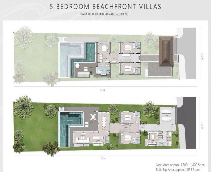 Baba Beach Club Phuket 5 Beachfront Villa House Plans Floor Plans Residences
