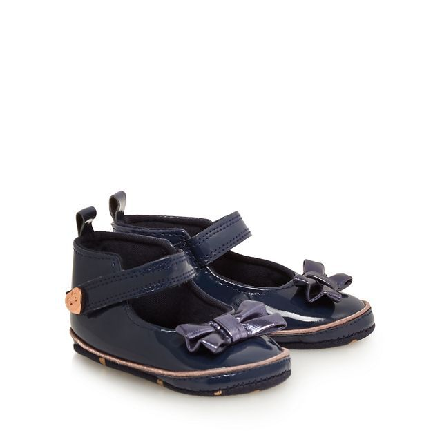 Navy patent shoes, Ted baker baby