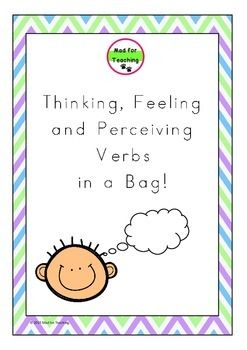 Thinking, Feeling and Perceiving Verbs in a Bag is a resource with a variety of uses to develop and expand vocabulary in reading, writing and speaking. This pack contains 56 adjective word cards with activity ideas, including accompanying worksheets to support learning.