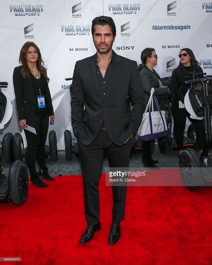 Actor Eduardo Verastegui arrives for the 'Paul Blart: Mall Cop 2' New York Premiere at AMC Loews Lincoln Square on April 11, 2015 in New York City.