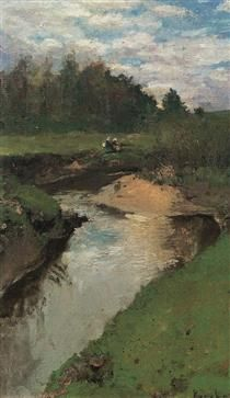 The River Vorya at Abramtsevo - Konstantin Korovin