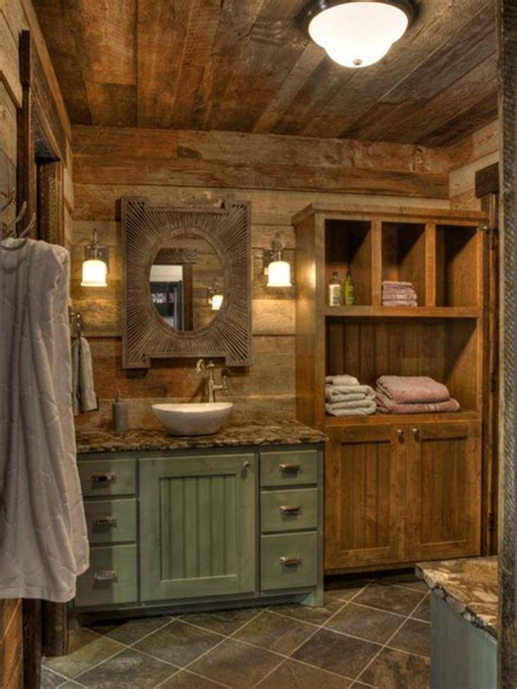 28+ Rustic brown bathroom storage cabinet custom