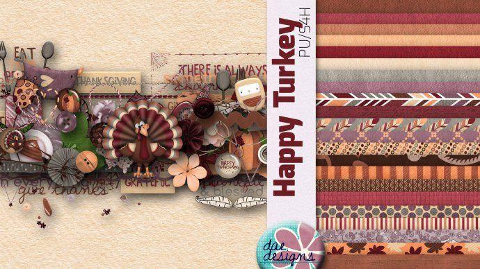 Happy Turkey by Dae Designs