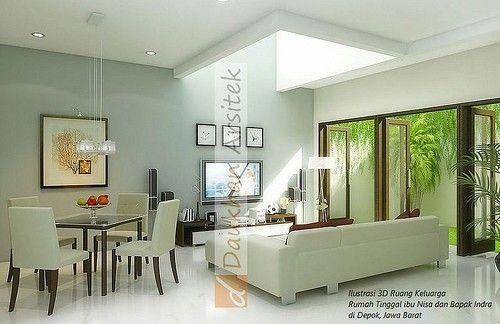 ilustrasi 3D ruang keluarga project rumah tinggal di Jakarta, Indonesia. arsitek by DP arsitek | www.DParsitek.com #interior #architect #arsitek #homedesign