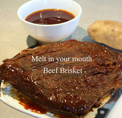 A beef brisket recipe to try....sounds like a winner