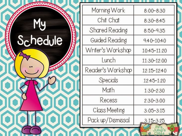 11 best Full day schedules images on Pinterest Full day