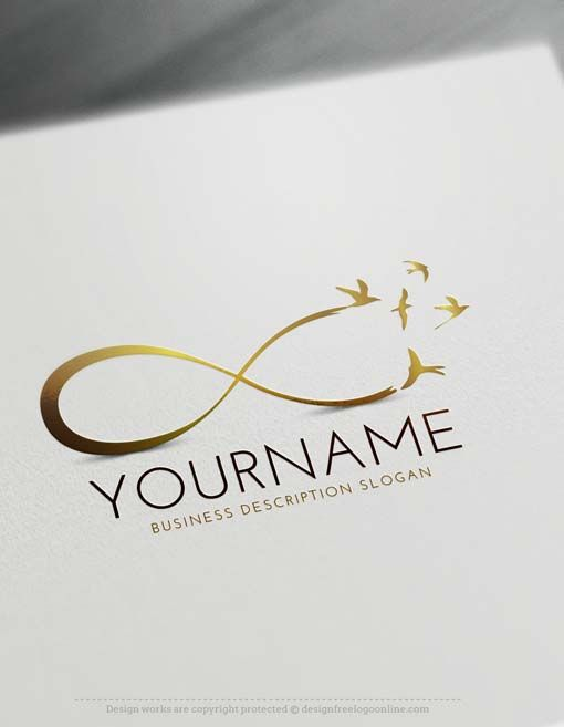 Free Logo Creator – Create Infinity Birds Logo with the Logomaker