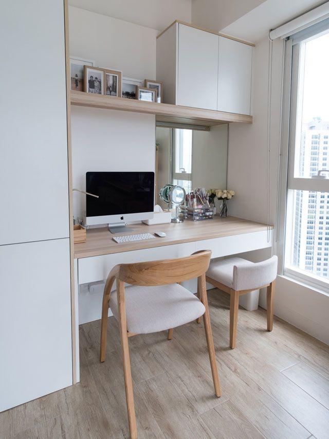 A 21sqm Contemporary Studio Unit Apartment Interior Condo Interior Design Small Home Office Design