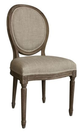 Rugs USA Casual Living Weathered French Round Back Chair (Set of 2) Light Burnt Oak