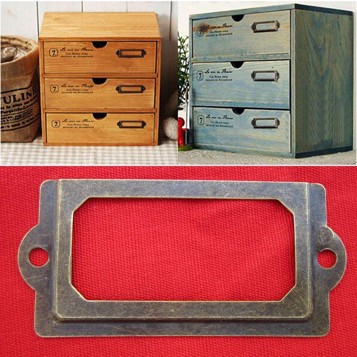 Купить товар12 шт. металла ящик этикетки рамка тянуть файла имя держателя карты с винтами для мебели кабинет ящика чехол бен в категории Дверные ручкина AliExpress.  HG0010276        Спецификация:                Новый            Материал: железо          Размер: прибл.  70x33 мм