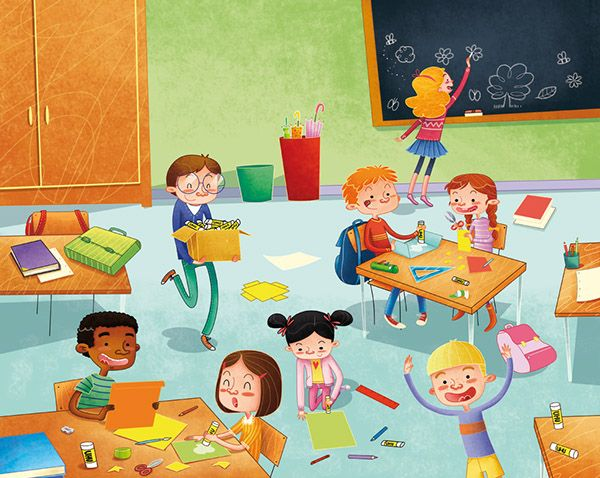 "Illustrations for the "" UHU School Project "" on Behance"