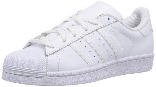 adidas Superstar Foundation J - Zapatillas para niño, color blanco, talla 38