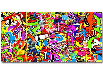 This Is Plan C - Abstract graffiti canvas art for the modern home by Sam Freek #modern #canvasart #multicoloured #abstract - www.didgiwidgi.co.uk