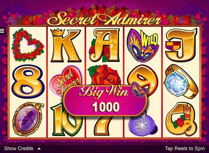 Try the Secret Admirer Online Slot at Crazy Vegas Casino. it's a 5 Reel, 9 payline Video Slot with a maximun 5 000 coin jackpot waiting to be won! https://www.crazyvegas.com/