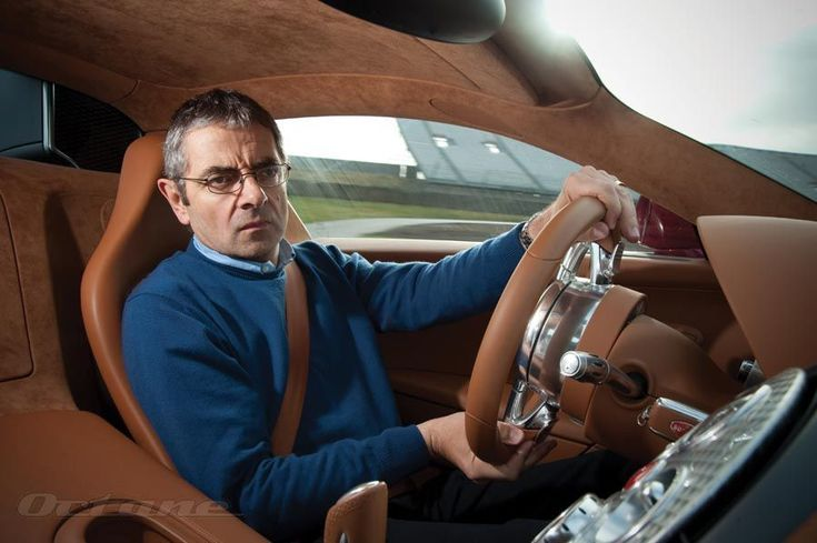 mr bean rowan atkinson driving a bugatti veyron never was a more incongruous match made. Black Bedroom Furniture Sets. Home Design Ideas